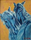 Blaue Pferde