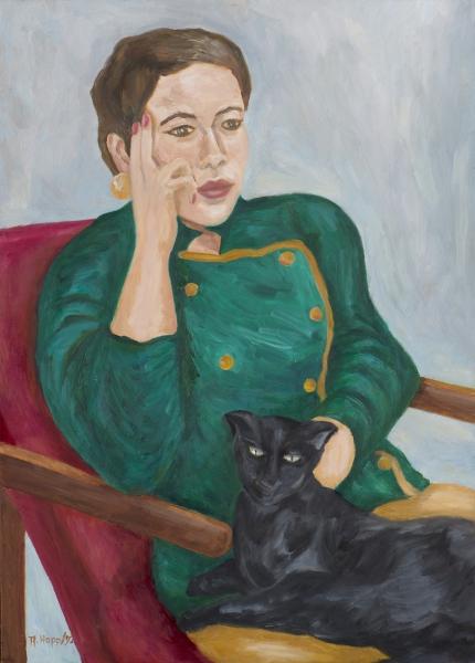 Mädchen mit Picasso(Katze)