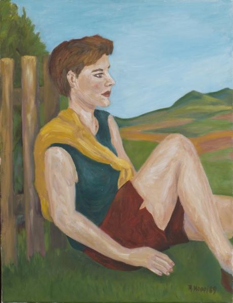 Portrait in Landschaft