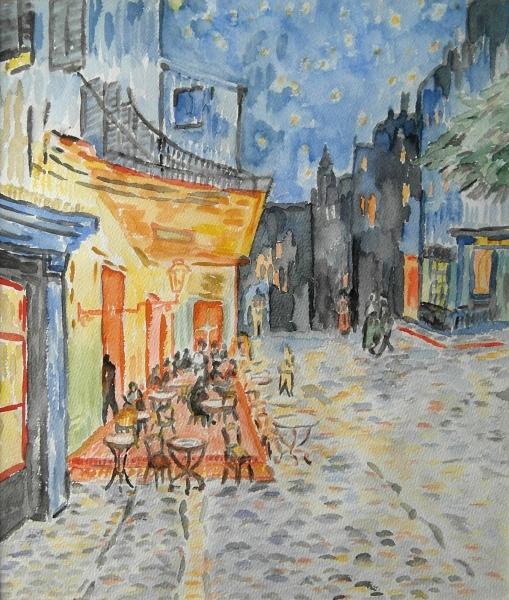 Straßencafé nach van Gogh