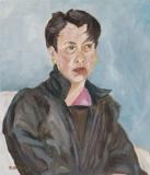 Portrait Lederjacke dunkel