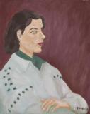 Portrait mit grauem Pullover