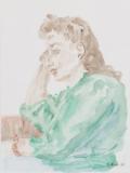 Portrait mit grünen Pulli