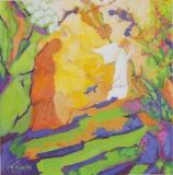 Zwei Frauen mit Engel