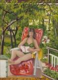 Rita in der Sonne